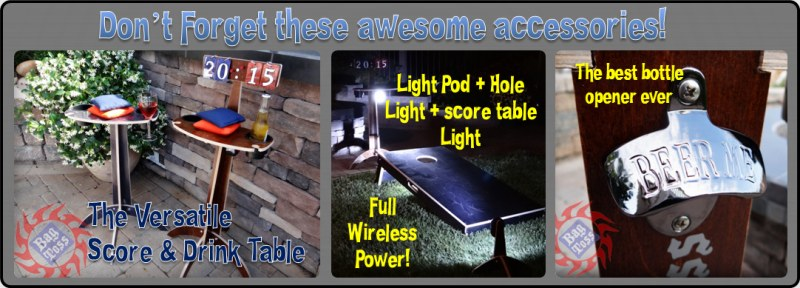 Awesome accessories Score Table, LED Lights, Bottle Opener