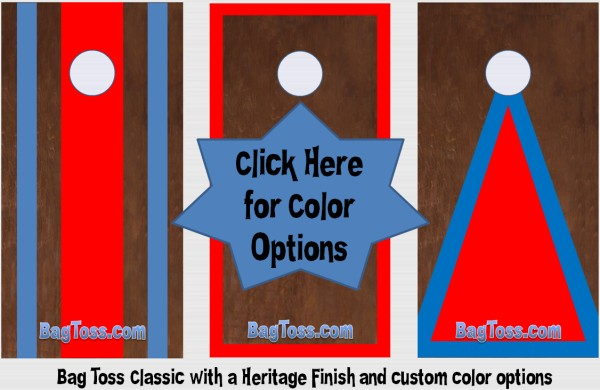 bag toss cornhole custom color options stripes triangles borders
